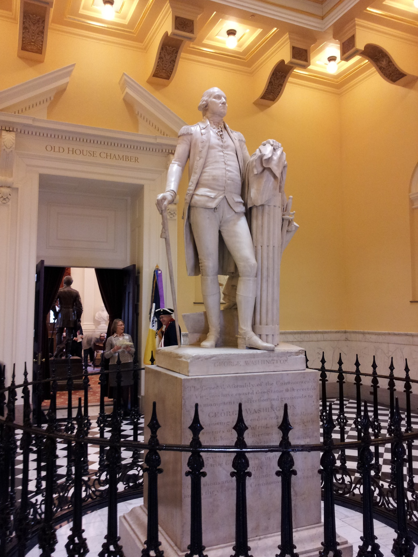 George Washington Statue in Lobby of Old House Chamber
